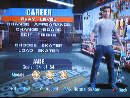Jake beats Tony Hawk 3