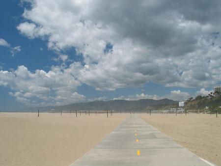 santa monica beach during sandstorm