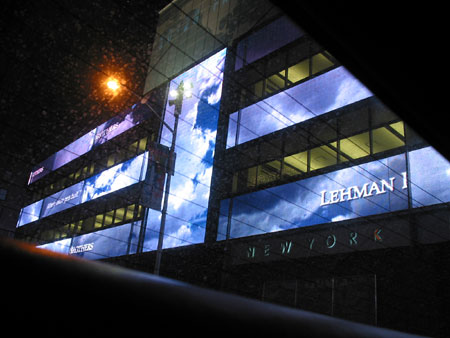 Lehman Sign, North of Times Square