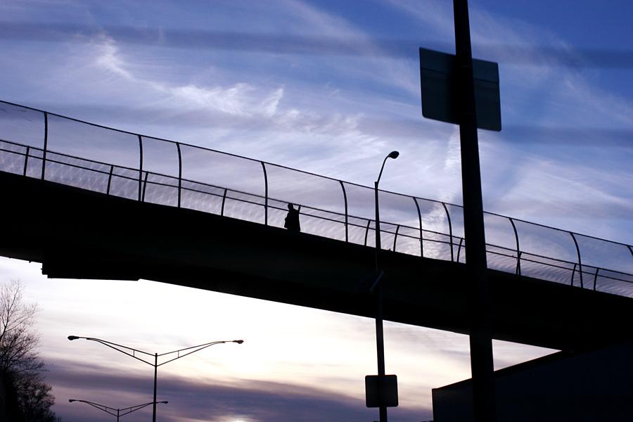 A  Pedestrian Bridge in Queens