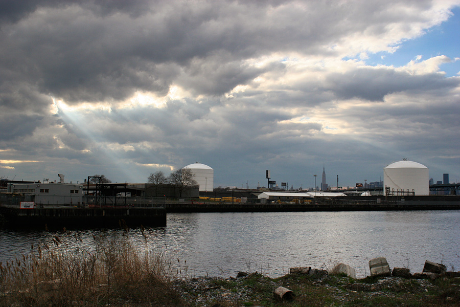 Spotlight Over Newtown Creek