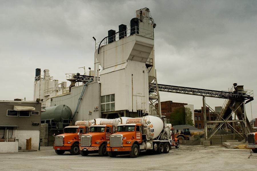 Gowanus Cement Plant on an Overcast Day