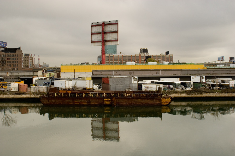 Barge on Newtown Creek