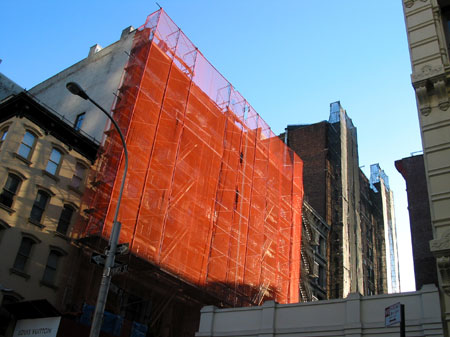 red netting on mercer street