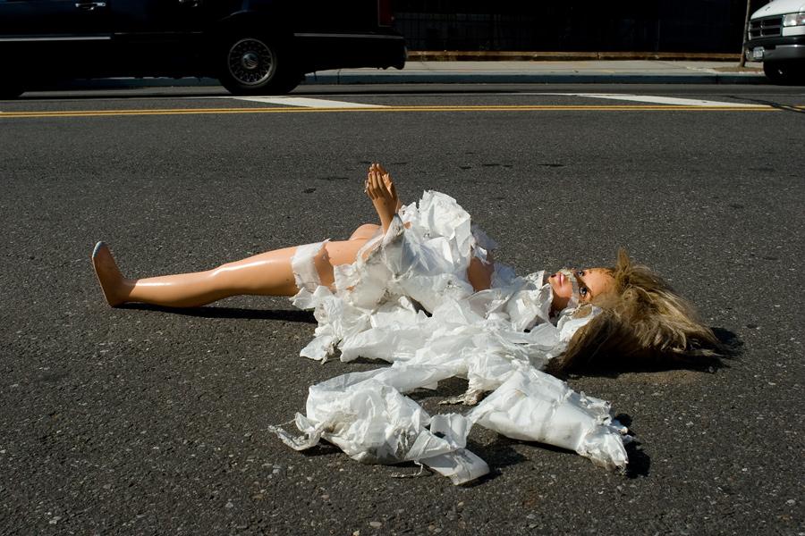 A Broken Doll on Flushing Avenue