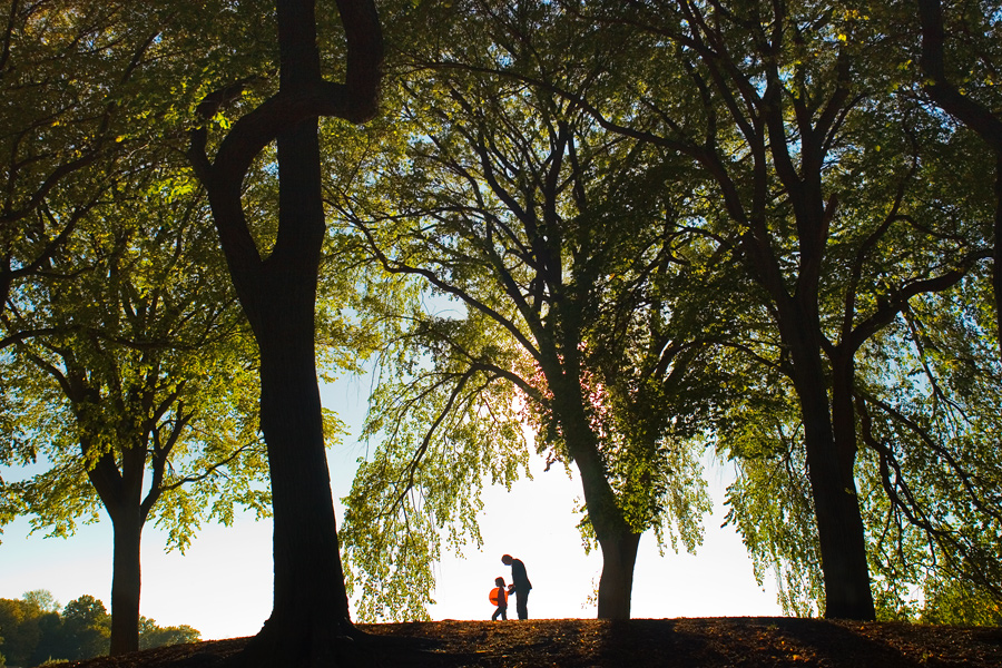 A Girl and her Father in Prospect Park